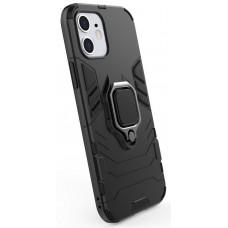 POWERTECH Θήκη Armor Ring MOB-1588 για iPhone 12 mini, μαύρη