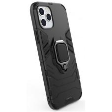 POWERTECH Θήκη Armor Ring MOB-1590 για iPhone 12 Pro Max, μαύρη