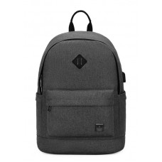 ARCTIC HUNTER τσάντα πλάτης B-00290-BK, laptop, αδιάβροχη, μαύρη