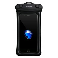 "USAMS αδιάβροχη θήκη κινητού YD007, έως 6"", IPX8, μαύρη"