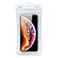 """USAMS αδιάβροχη θήκη κινητού YD007, έως 6"""", IPX8, λευκή"""